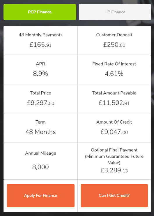Mobile Finance Calculator Example